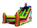 Guangzhou newest design clown boot inflatable slide/inflatable dry slide for kids