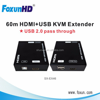 High Speed 1080p 60M HDMI+USB KVM Extender Transimt 100m Each Set Includes One Transmitter and One Receiver