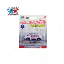 small ambulance kids vehicles 1:87 scale alloy model diecast toy car for sale