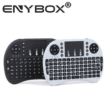 2.4G Rii Mini i8 Wireless Keyboard with Touchpad for PC Pad Google Andriod TV Box Xbox white + battery