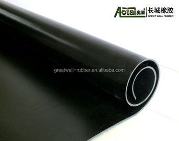 Widely used good quality industrial (NR/SBR/EPDM/CR/NBR )Black Rubber Sheet