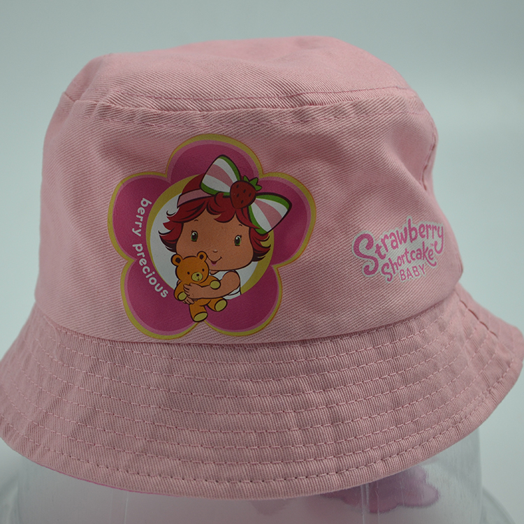 Very lovely baby bucket hat,cheap pink bucket hat,cotton bucket cap