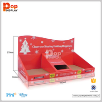 recycled design eco-friendly retail counter top cardboard display case
