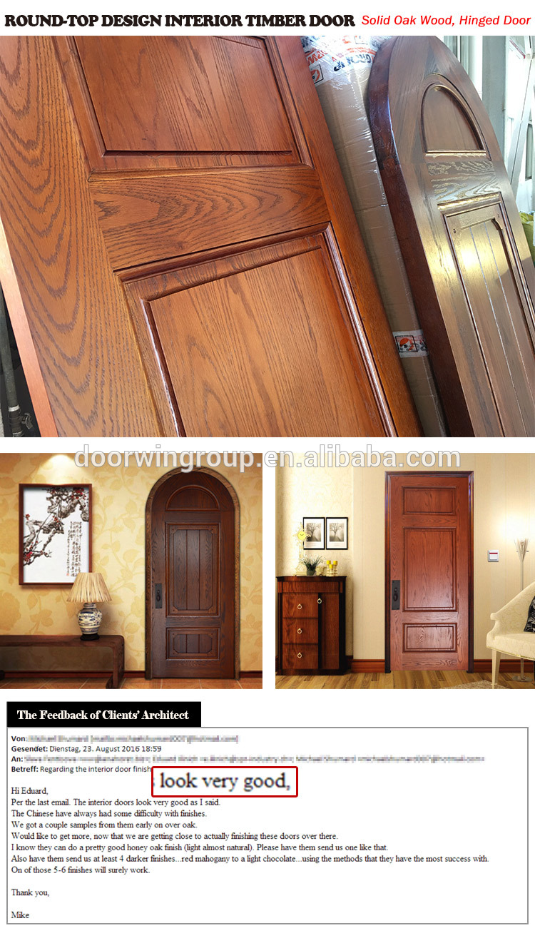 Europe church front door round top design wooden single main door design made of oak wood