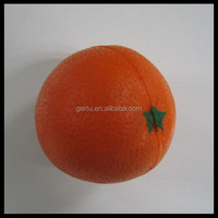 promotional customized orange antistress balls /stress toy