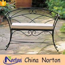 Simple modern design cast iron relaxing bench with soft seat NTIRH-036L