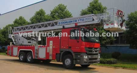 North Benz Aerial ladder fire engine truck