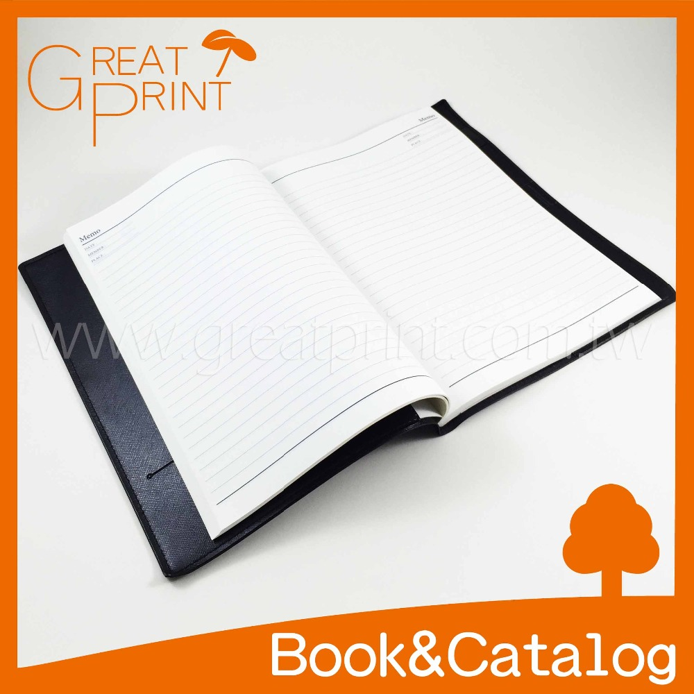 PU Leather Book Case Sleeve Debossed Logo Notebook Printing