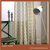 100% polyester Elegant style fabric custom printing curtains and drapes