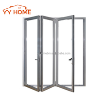 YY Home latest modern house and office design AS2047 certified glass garage aluminium folding door price