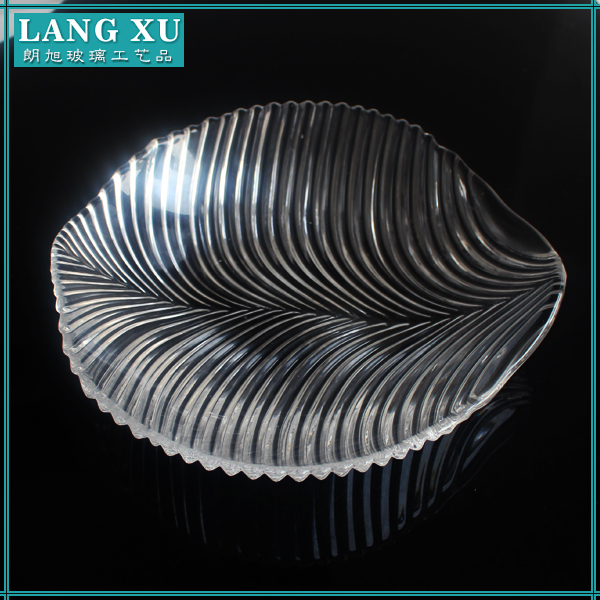 wholesale hand made home and restaurant use glass plates dinnerware