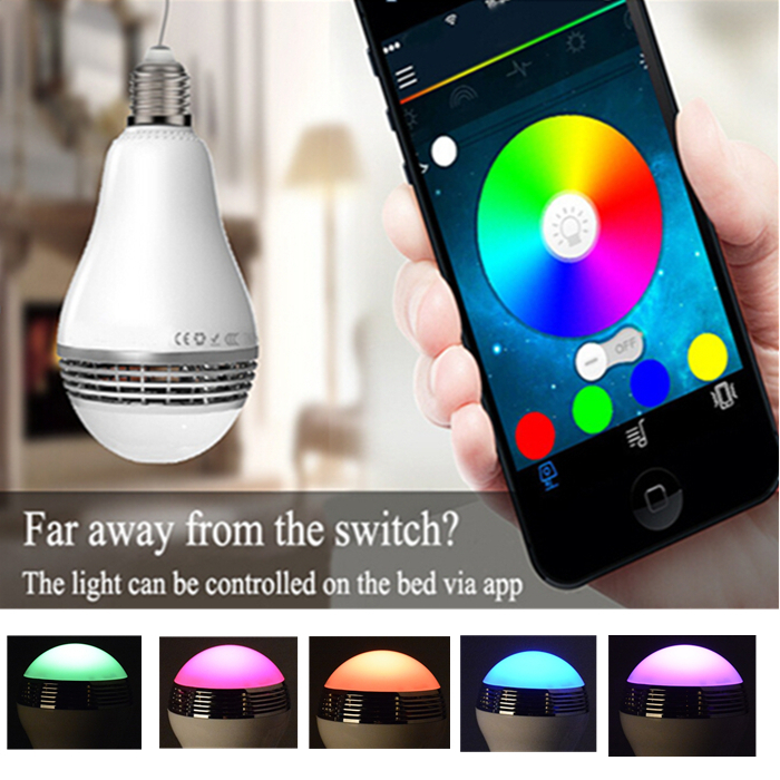 Smart LED Light lamp with Bulb APP Control bluetooth speaker