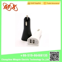 2016 OEM/ODM certification 5v 2.1a white/black universal dual usb car charger for all mobile model