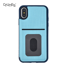 For iPhone X Folio Flip Case, Denim Series Back Cover Colored Soft TPU Bumper Card Holder Case Stand Case for iphone X