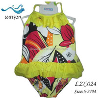 Little Girl Pretty Printed OEM Swimsuit