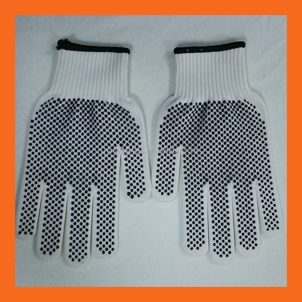 Polyester Knit Glove with PVC dots on palm