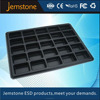 Transparent ESD plastic blister packaging tray with dividers for electronic component