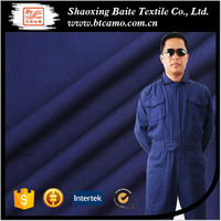 35%cotton 65%polyester heavy cotton soild color blue twill worker uniform fabric