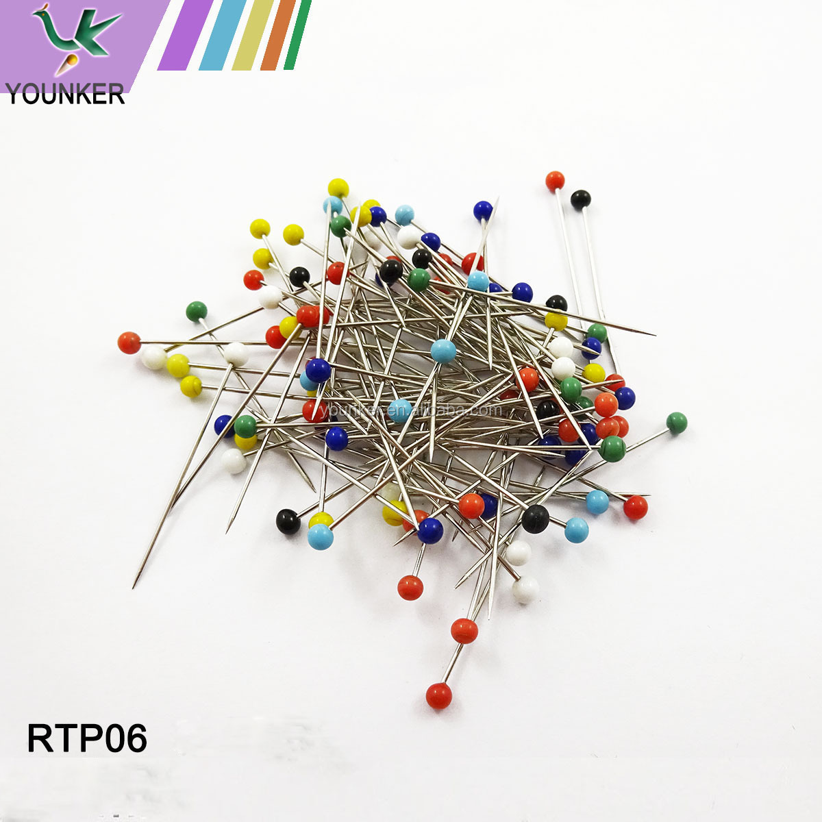 Wholesale colorful ball shaped bulk pearl head pin