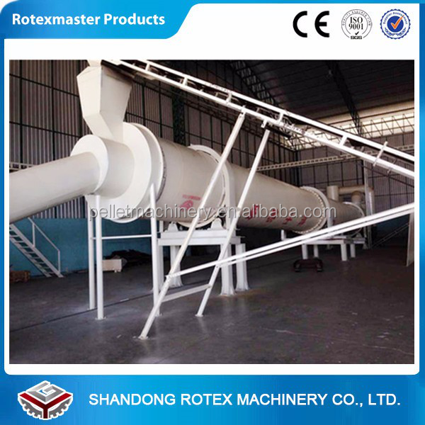Electric used wood powder rotary drum dryer/sawdust drum dryer