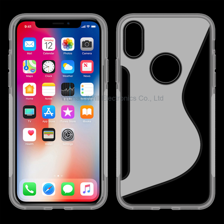 New S Line TPU Rubber Case for iphoneX Mobile Soft Gel Skin , for iphone X case cover