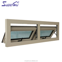 powder coated Aluminum Profile low-E glass window Made in china tempered glass awning window with 10 years warranty