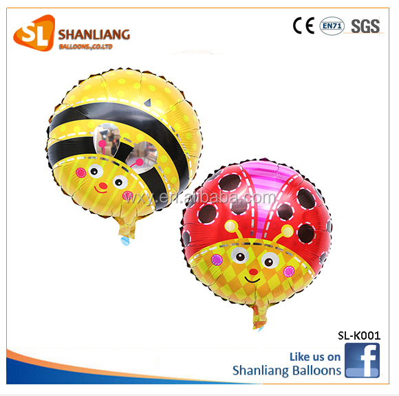 18-inch round balloons cartoon party decoration balloon bee animal inflatable helium foil animal bee balloons toys