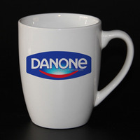350ml white color ceramic coffee mug for promotion