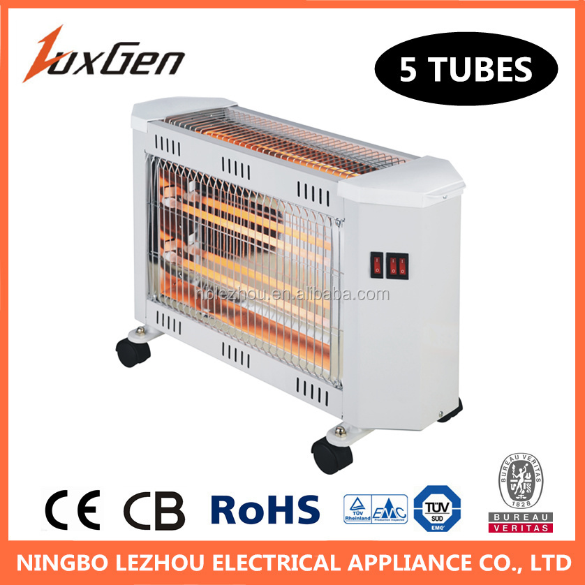 2400W with 5 quartz tubes electric home heater