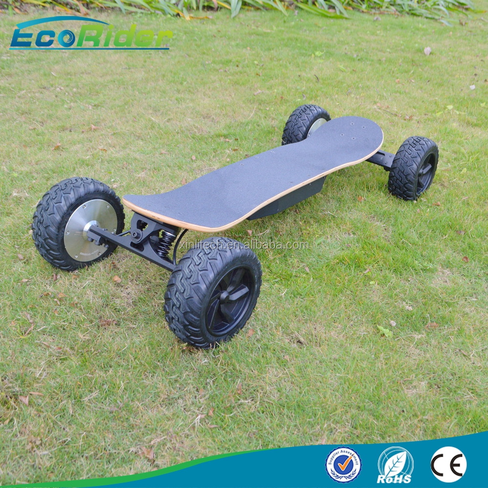 Popular 350W power boosted off road 4 wheels electric skateboard