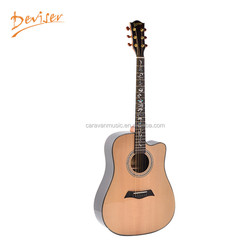 Factory custom new popular solid wood acoustic guitars for sale
