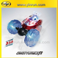 10051 crazy tumbler car with LED light battery operated chinese wholesale wireless toys rc car