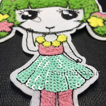 custom cute embroidery chenille patch for clothing China supplier