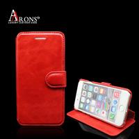 New design wallet phone wallet for iphone 6 genuine leather case