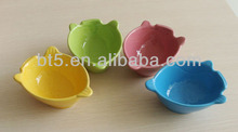 fish shape solid color ceramic animal bowl