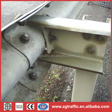 W beam steel highway guardrail