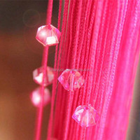 hanging string curtain with crystal beads for door
