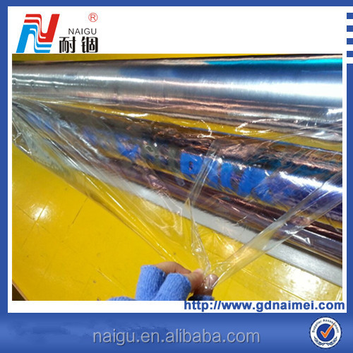 Glossy black self adhesive PVC film
