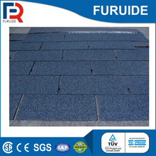 China credible supplier blue asphalt roofing shingles materials