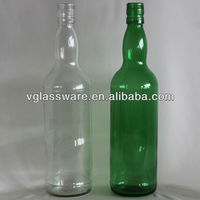 rum glass bottles clear and green 750ml screw top