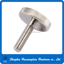 Custom made stainless steel /brass m2 m3 m4 m6 knurled big head thumb screw