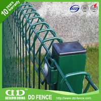 Rolled Beam Section At Top And Bottom Edge/ Round Top Mesh Panel /Galvanized Rolltop Weld Fence