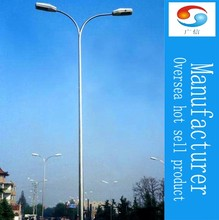 5m galvanized tapered street alloy steel lighting rods conical lamp pole floodlight mast tubular pole for sale