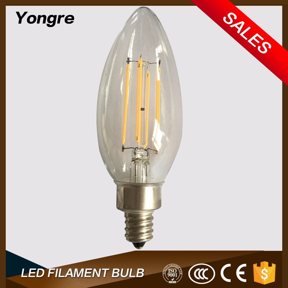 2017 CE ROHS 220V Dimmable candelabra 120 bulb led C35 e14 in china