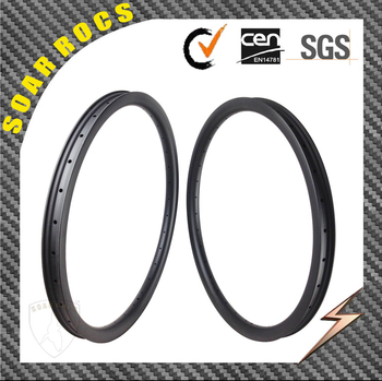 carbon bicycle parts 27.5er MTB carbon rims Soarrocs 30mm tubeless clincher 40mm width hookless down hill rims
