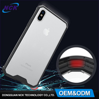 2017 New arrival clear soft PMMA + TPU cell phone case for iphone 8, OEM MOQ=100pcs mobile case for iphone 8