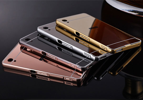 Luxury Electroplate Metal Mirror Phone Case For Sony Xperia Z2