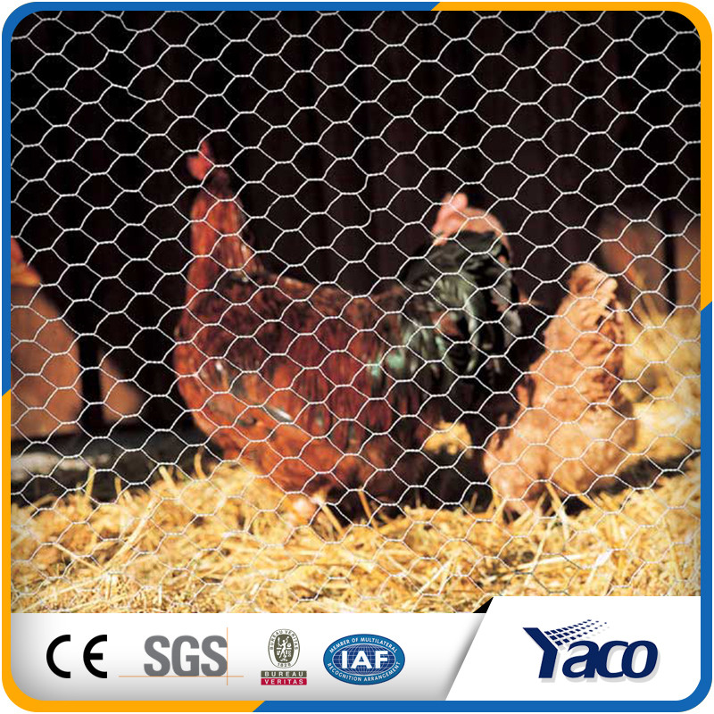 Factory price long use life galvanized bird animal cages hexagonal wire mesh