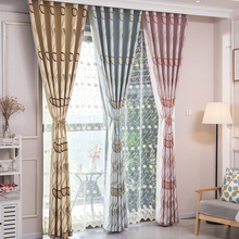 Wholesale Custom Leaf Jacquard Polyester Window Curtain