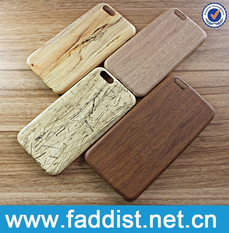 Mobile phone accessories,genuine wood grain leather phone case for iphone 6 case